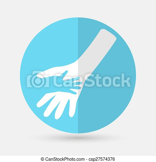 Business icon. Handshake on a white background - csp27574376