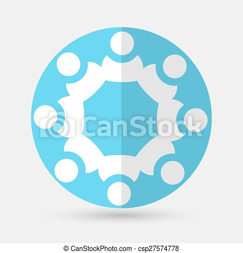 Business icon. Handshake on a white background - csp27574778