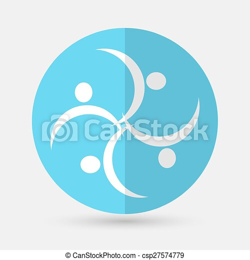 Business icon. Handshake on a white background - csp27574779