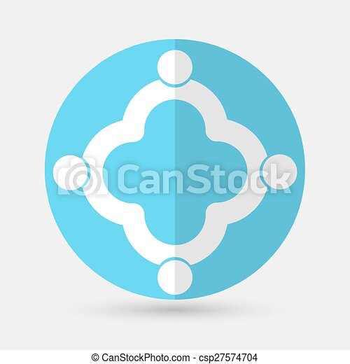 Business icon. Handshake on a white background - csp27574704