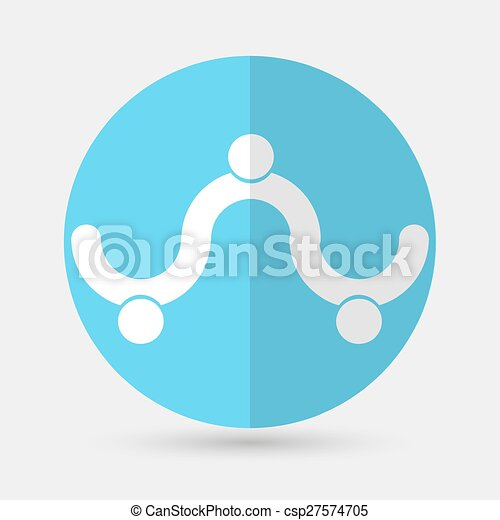 Business icon. Handshake on a white background - csp27574705