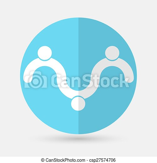 Business icon. Handshake on a white background - csp27574706