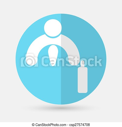 Business icon. Handshake on a white background - csp27574708