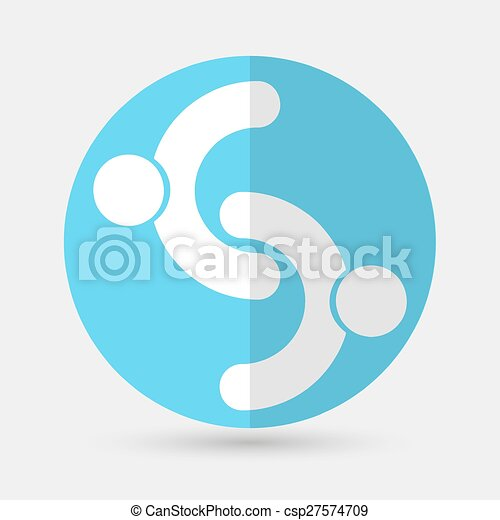 Business icon. Handshake on a white background - csp27574709