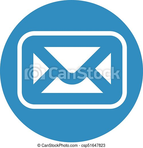 Business icon. Vector illustration isolated on white background. Mail symbol. - csp51647823