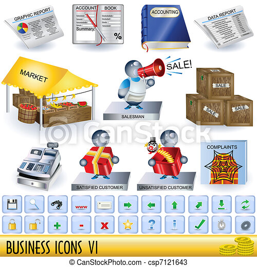 Business Icons 6 - csp7121643
