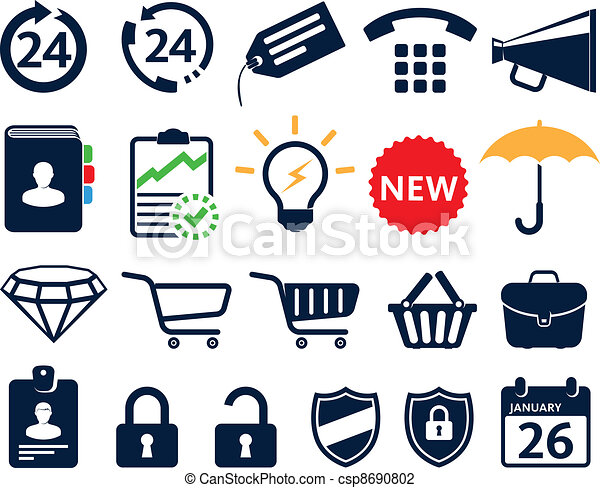 Business icons - csp8690802