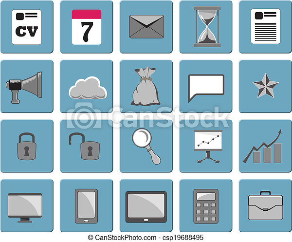 Business icons, set 1 - csp19688495