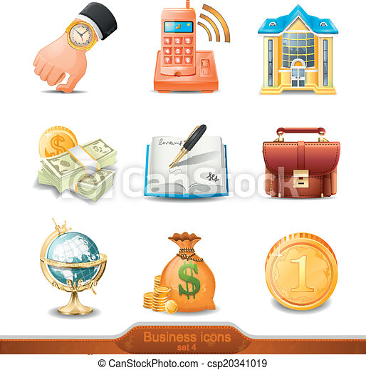 Business icons set 4 vector - csp20341019