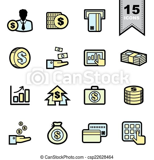 Business icons set  - csp22628464