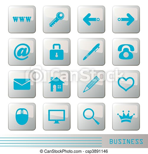 Business icons set  - csp3891146