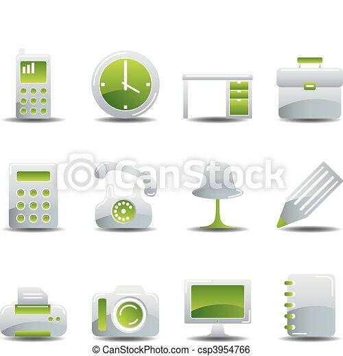 Business icons set - csp3954766