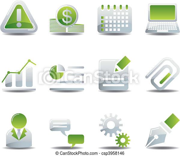 Business icons set - csp3958146