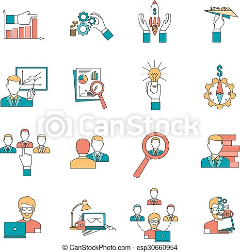 Business icons set - csp30660954