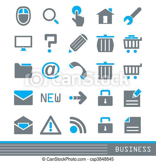 Business icons set - csp3848845