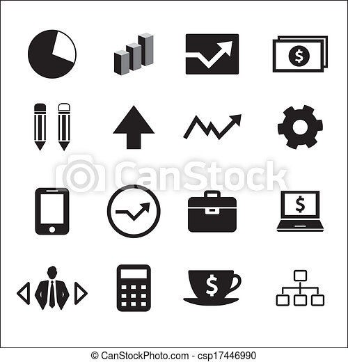 Business icons set - csp17446990