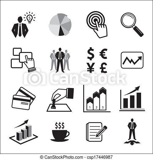 Business icons set  - csp17446987