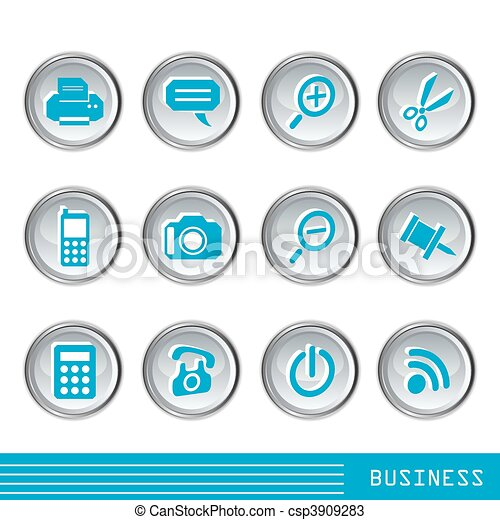 Business icons set  - csp3909283