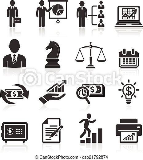 Business icons set. - csp21792874