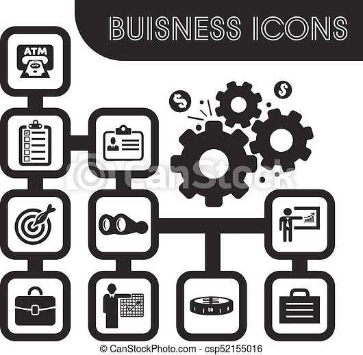 Business icons set - csp52155016