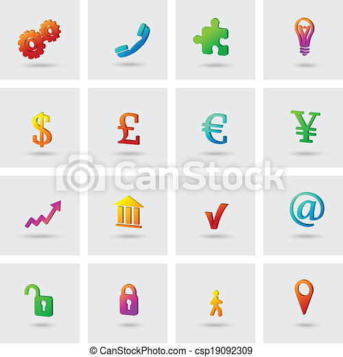 Business icons set - csp19092309