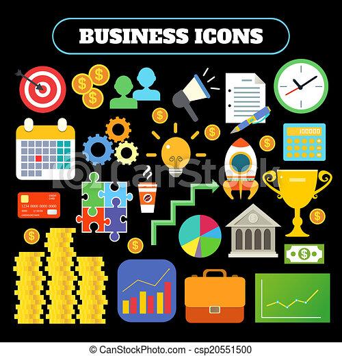 Business icons set - csp20551500