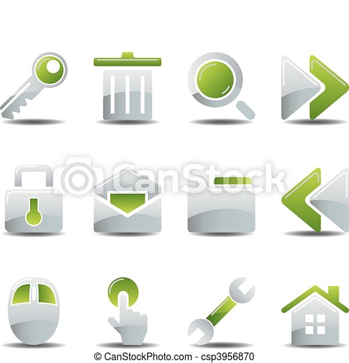 Business icons set  - csp3956870