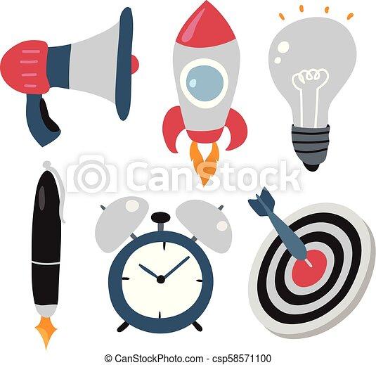 business icons set - csp58571100