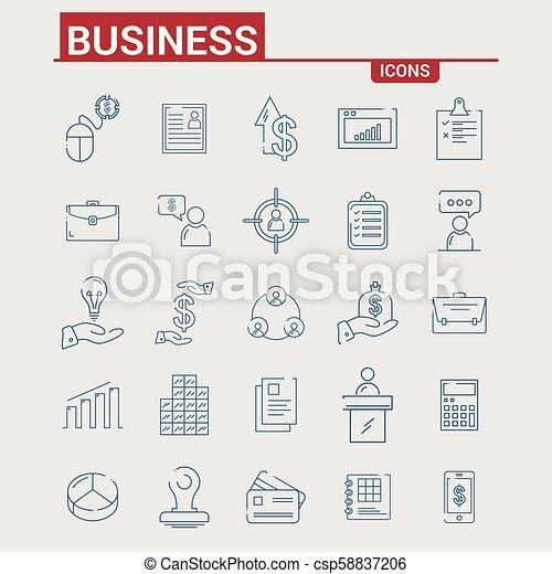 Business icons set - csp58837206
