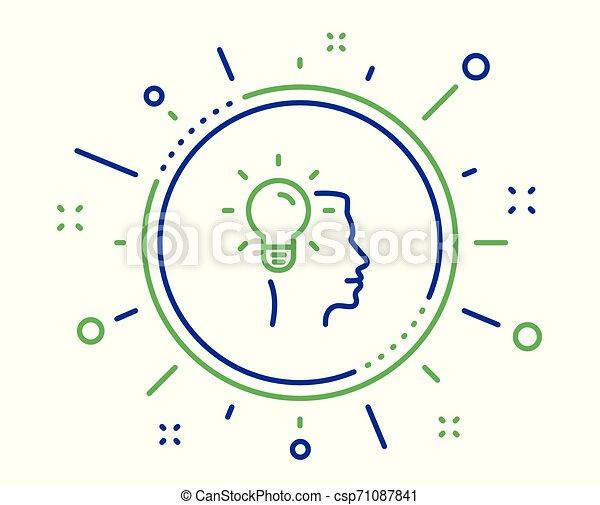 Business Idea line icon. Light bulb sign. Vector - csp71087841