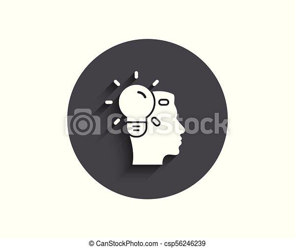 Business Idea simple icon. Light bulb sign. - csp56246239