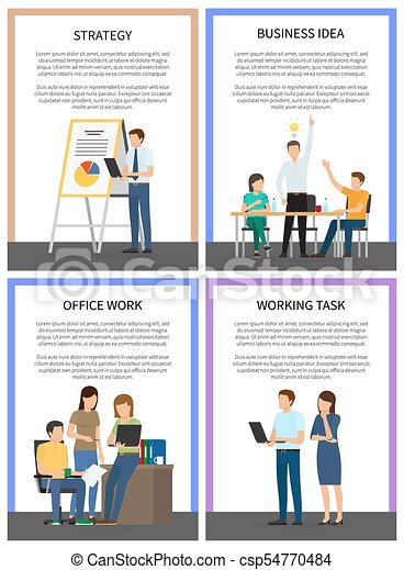 Business Idea Strategy Working Office Task Posters - csp54770484