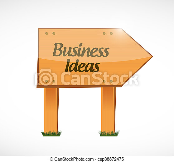business ideas wood sign concept - csp38872475