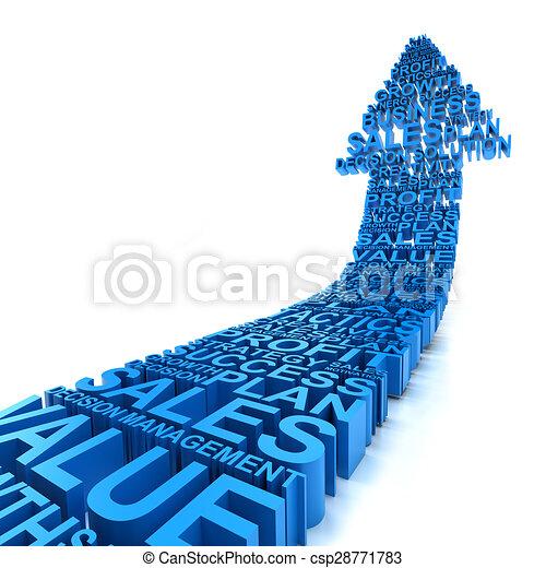 Business improvement arrow - csp28771783