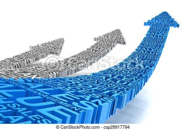 Business improvement arrows - csp28917794