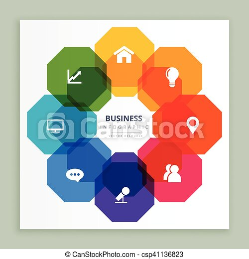 business infographic icons - csp41136823