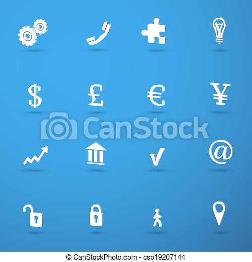 Business infographic icons set - csp19207144