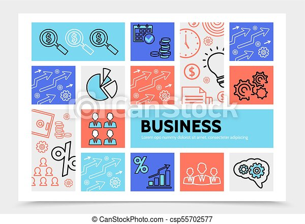 Business Infographic Template - csp55702577