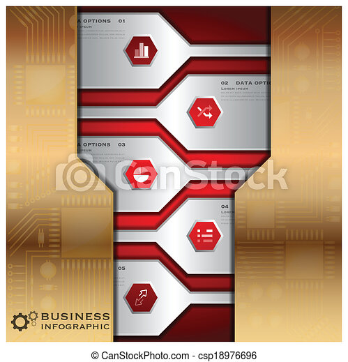 Business Infographic With Technology Background - csp18976696
