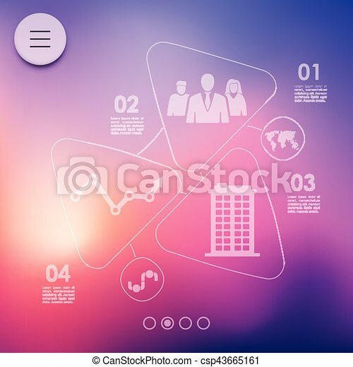 business infographic with unfocused background - csp43665161