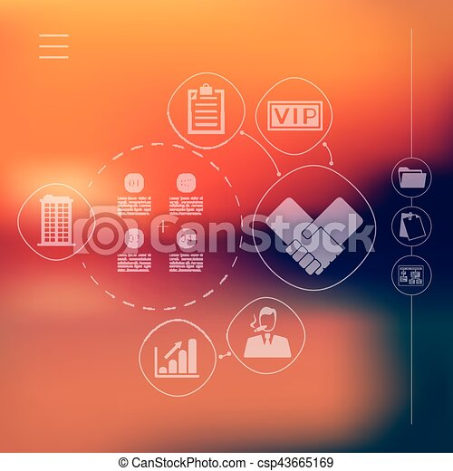 business infographic with unfocused background - csp43665169