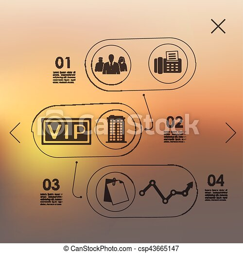 business infographic with unfocused background - csp43665147