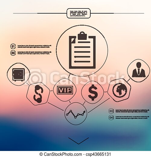 business infographic with unfocused background - csp43665131