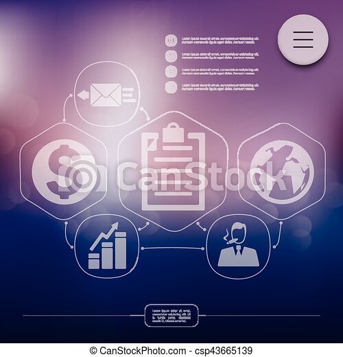business infographic with unfocused background - csp43665139