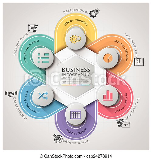 Business infographic with weaving curve circle step diagram design business infographic with weaving curve circle step diagram csp24278914 ccuart Image collections