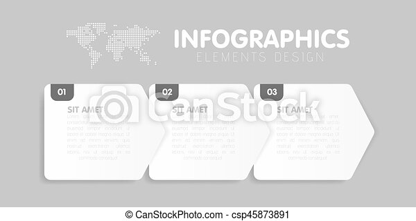 Business infographics template timeline with 3 arrow steps three business infographics template timeline with 3 arrow steps three number options vector maxwellsz
