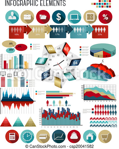 Business infographics template. Vector. - csp20041582