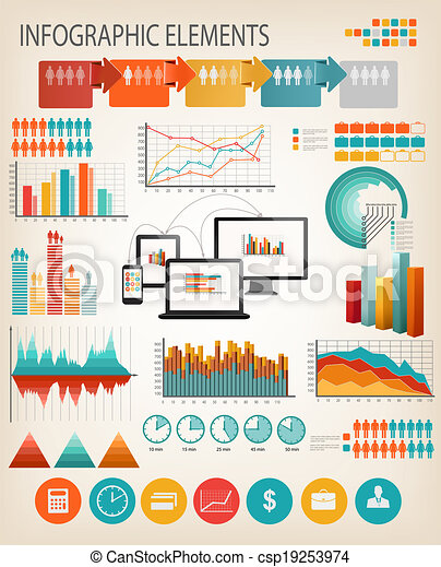 Business infographics template. Vector. - csp19253974