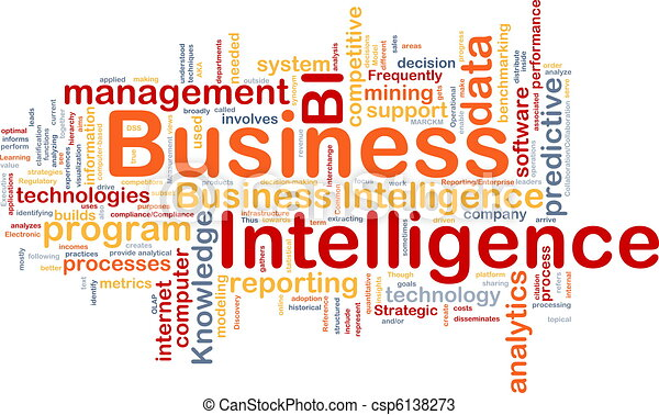 Business intelligence background concept - csp6138273