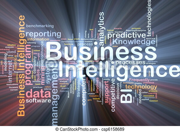 Business intelligence background concept glowing - csp6158689